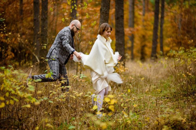 jesienna sesja slubna naturalna fotografia